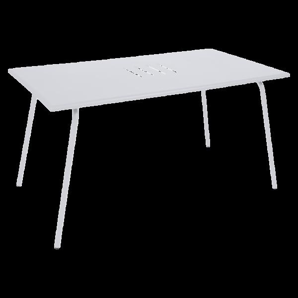 Tisch 146 x 80 cm Monceau Baumwollweiß