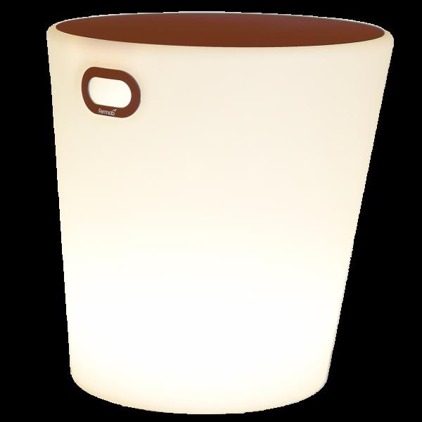 Leuchthocker H.44 cm INOUÏ Ockerrot