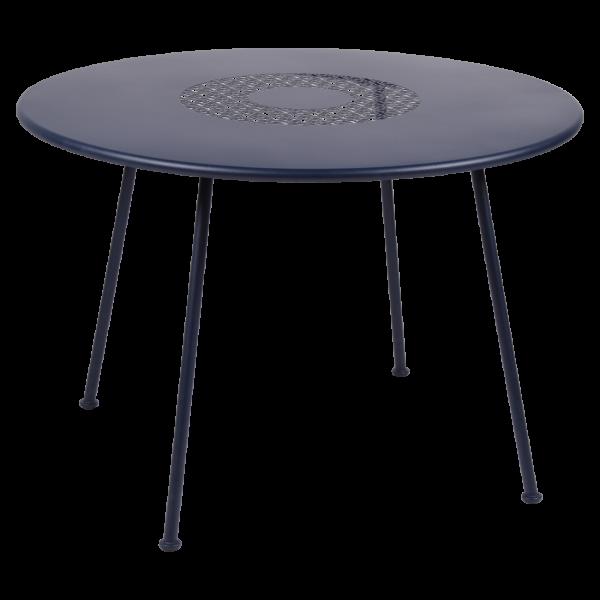 Runder Tisch, Ø110cm, Lorette Abyssblau