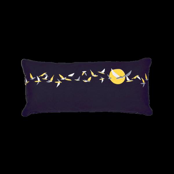 Kissen 35 x 70 cm Ava Nachtblau