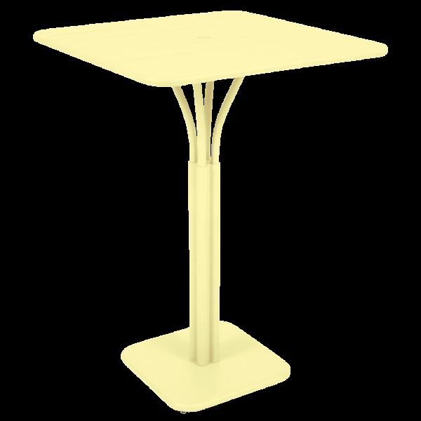 Hoher Tisch 80 x 80 cm Luxembourg Zitronensorbet