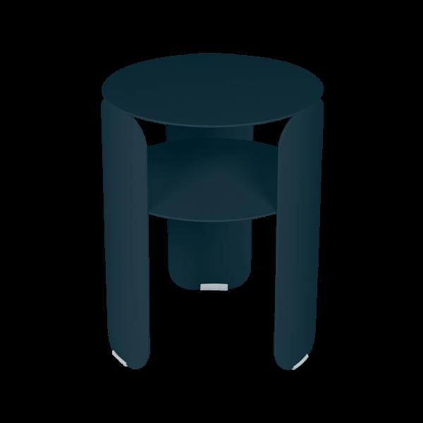 Bebop runder Beistelltisch 35cm Acapulcoblau