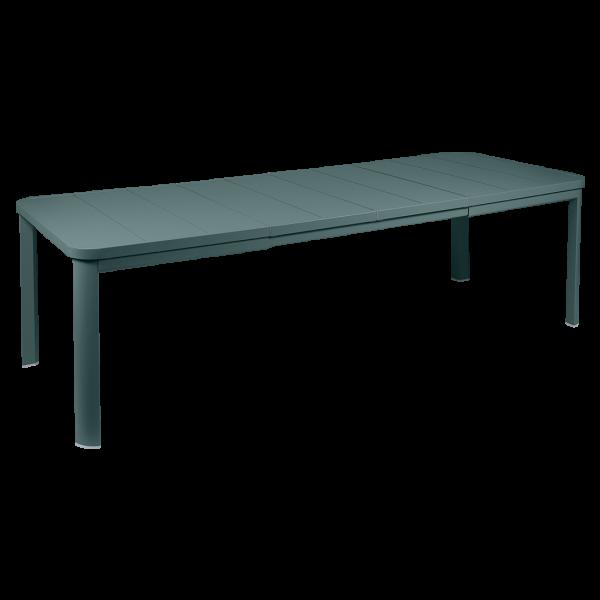 Tisch Oléron mit 2 Verlängerungen 155/255 x 100 cm Gewittergrau