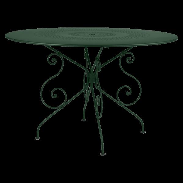 Tisch Ø 117 cm 1900 Zederngrün