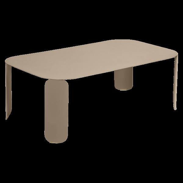 Niedriger Tisch Bebop 120x70, H42, Muskat
