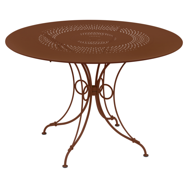 1900 Tisch Ø 117 cm Ockerrot