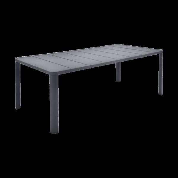 Tisch 205 x 100 cm Oléron Anthrazit