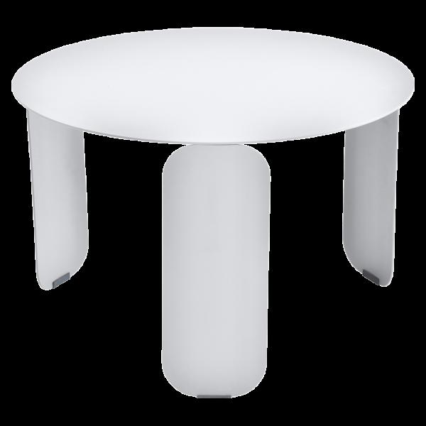 Bebop niedriger runder Tisch 60cm Baumwollweiß