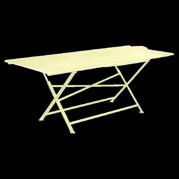 Tisch 190 x 90 cm Cargo Zitronensorbet