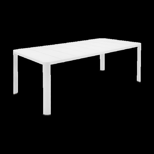 Tisch 205 x 100 cm Oléron Baumwollweiß