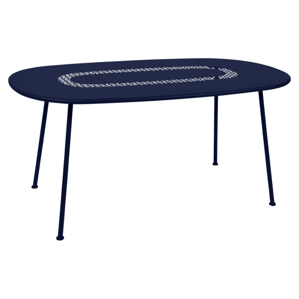 Lorette, Ovaler Tisch, 160 x 90 Abyssblau