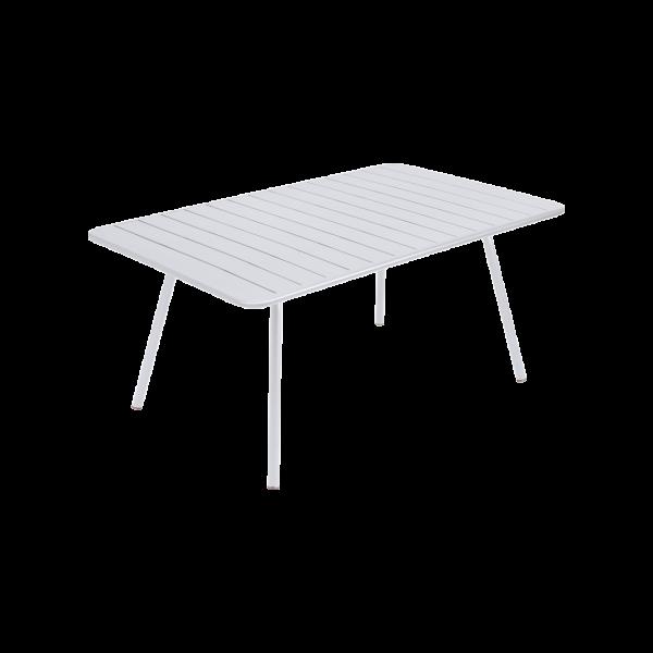 Tisch 165 x 100 cm Luxembourg Baumwollweiß