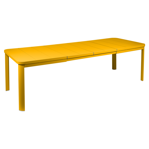 Tisch Oléron mit 2 Verlängerungen 155/255 x 100 cm Honig