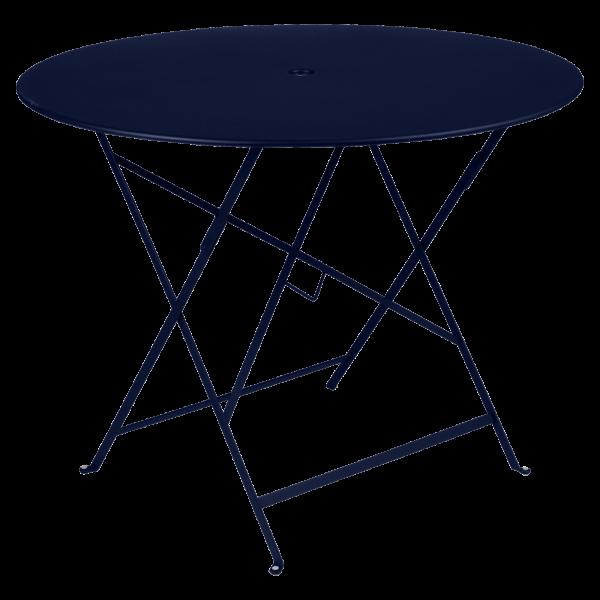 Tisch Ø 96 cm Bistro Abyssblau