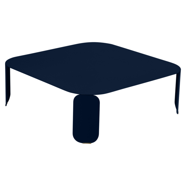 Niedriger Tisch Bebop 90x90, H29, Abyssblau