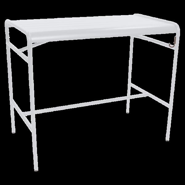 Hoher Tisch 126 x 73 cm Luxembourg Baumwollweiß