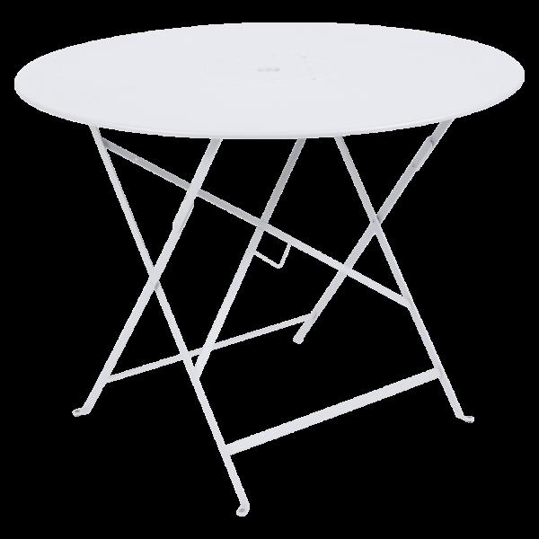 Tisch Ø 96 cm Floréal Baumwollweiß