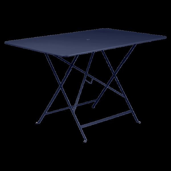 Tisch 117 x 77 cm Bistro Abyssblau